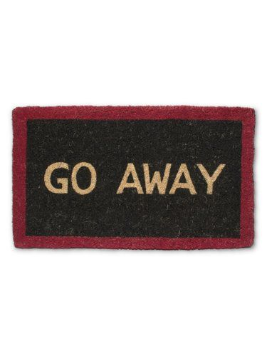 Paillasson Extérieur Amazon Outdoor Décor-abbott Collection Black And Red Go Away