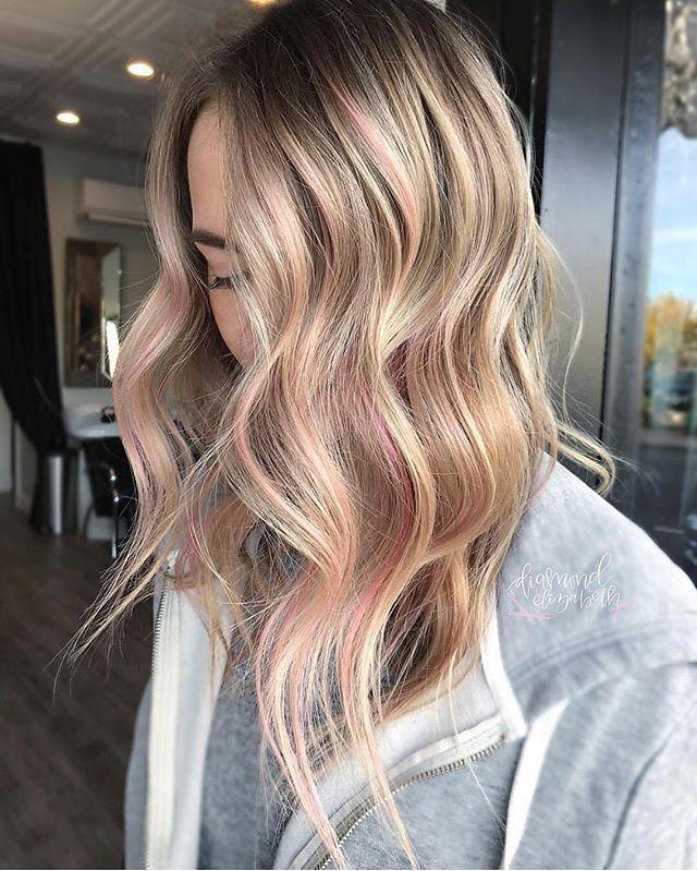 Soft Pink Balayage ️ Pastelbalayage By Diamondelizabeth
