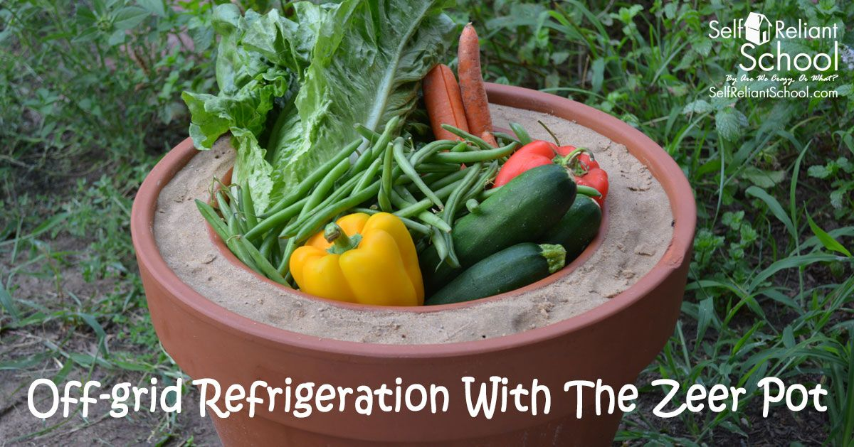 How to create a zeer pot, a non-electric refrigerator.