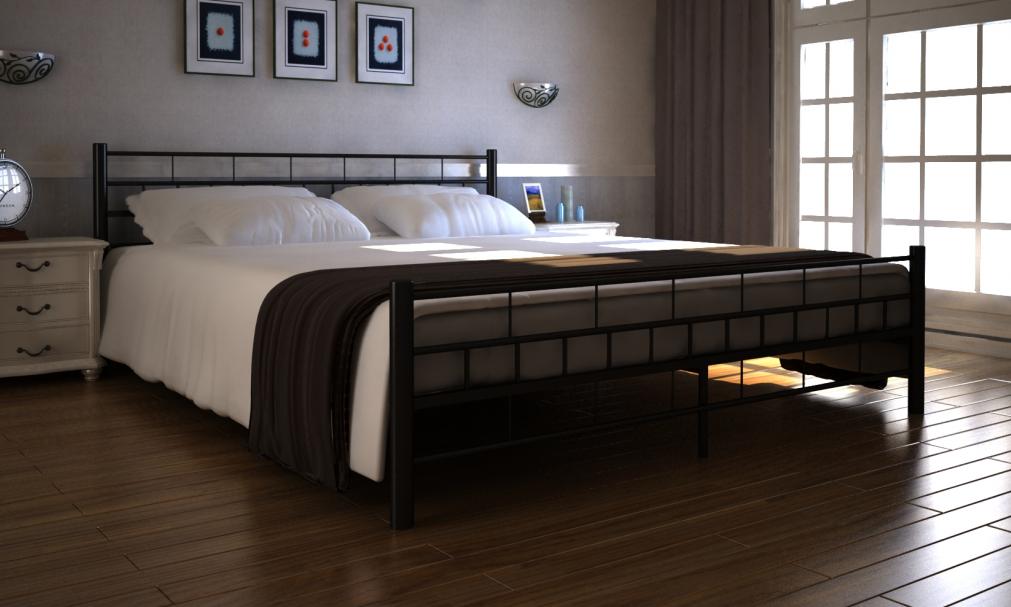 Metallbett 180x200 braun  Metall Bett 180 x 200 cm mit Matratze | Bett 180, Matratze und Bett