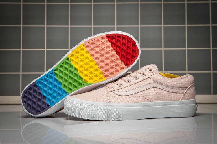 b2a658b5f3 Vans Old Skool Rainbow Bottom Pink Style Shoe For Sale  Vans ...