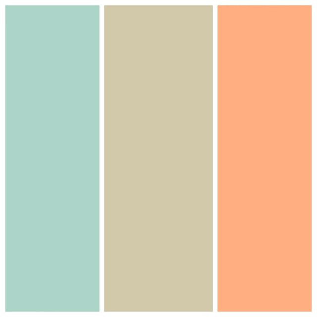 Official wedding colors?? Seafoam, taupe and apricot