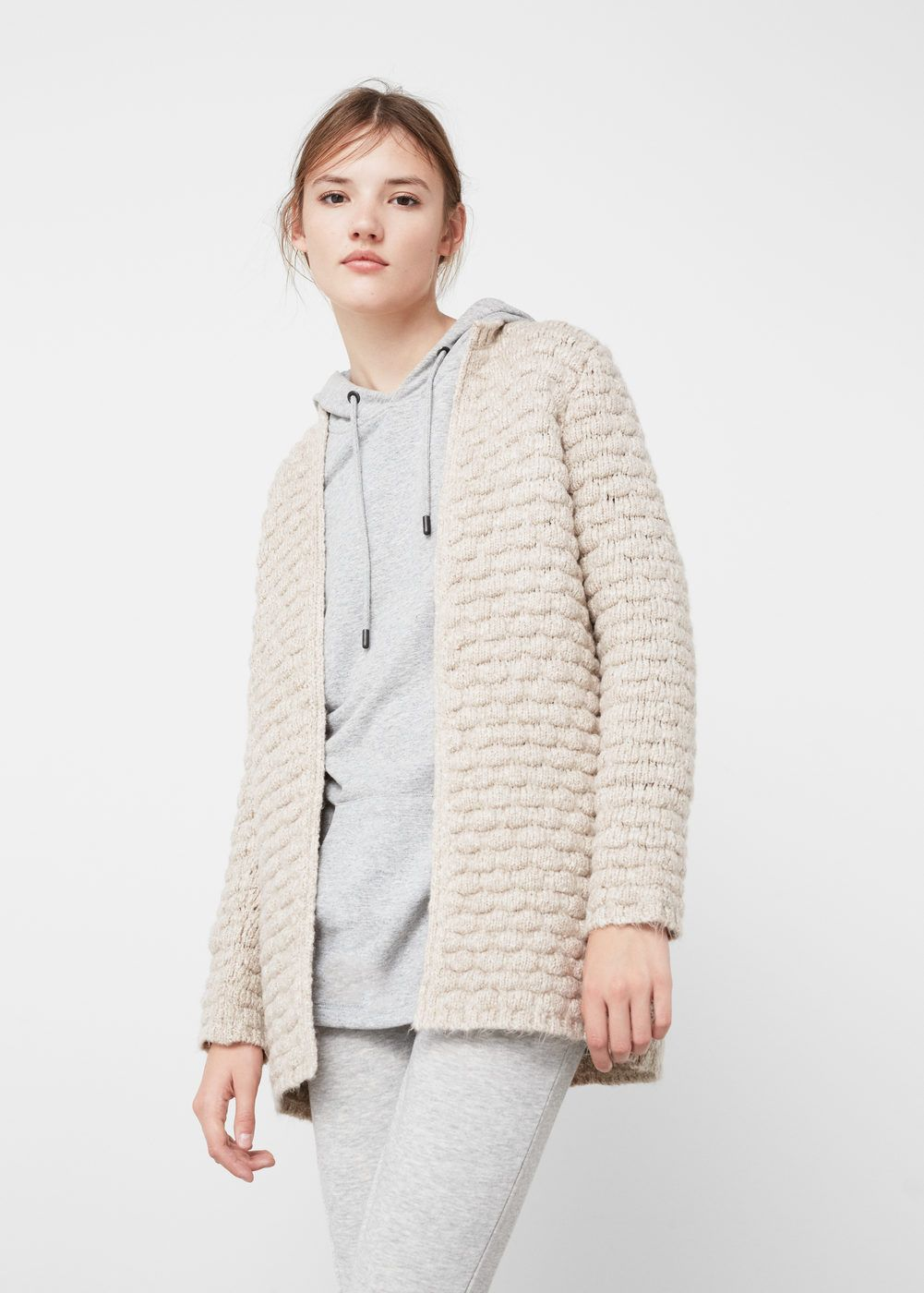 Textured cotton cardigan | Cotton, Winter essentials and Clothing