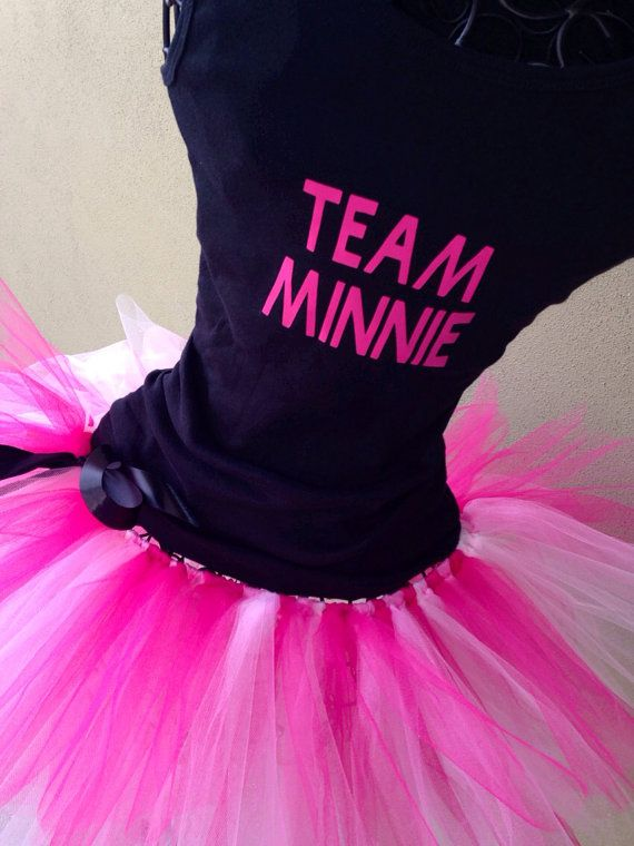 Running Tutus Pink Team Mouse Themed Racing by LuckyNumberTutu, $49.95
