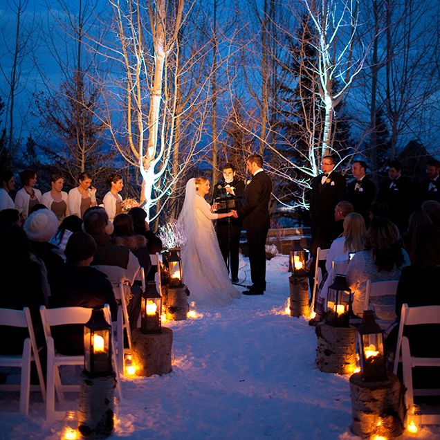Snow Wedding Ideas: A Beautiful Jackson Hole Destination Winter Wedding