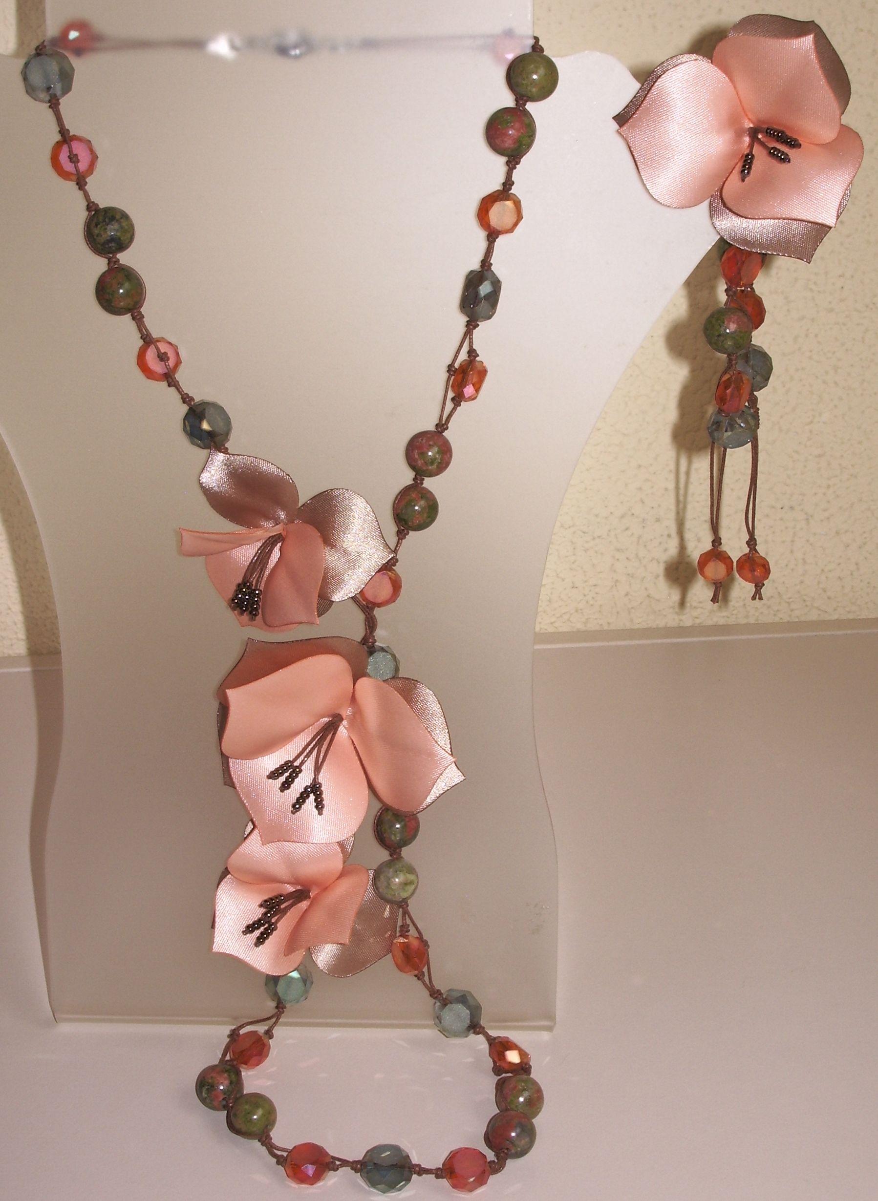 4200556f0021 Collar largo de piedra Unakita