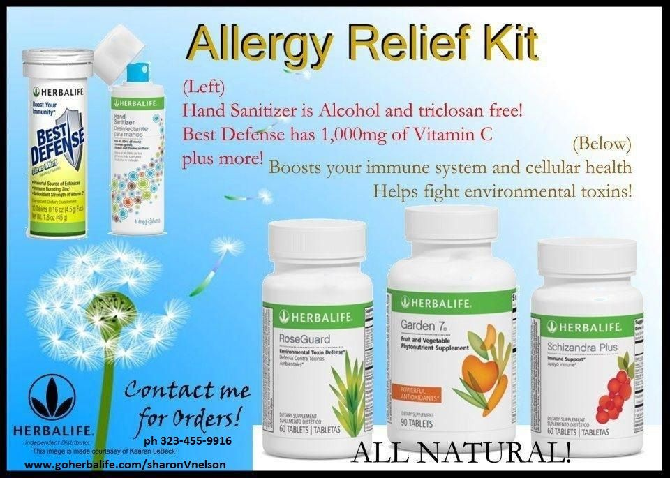 Herbalife Allergy Relief Kit Vitamin C Boosts Your Immune System