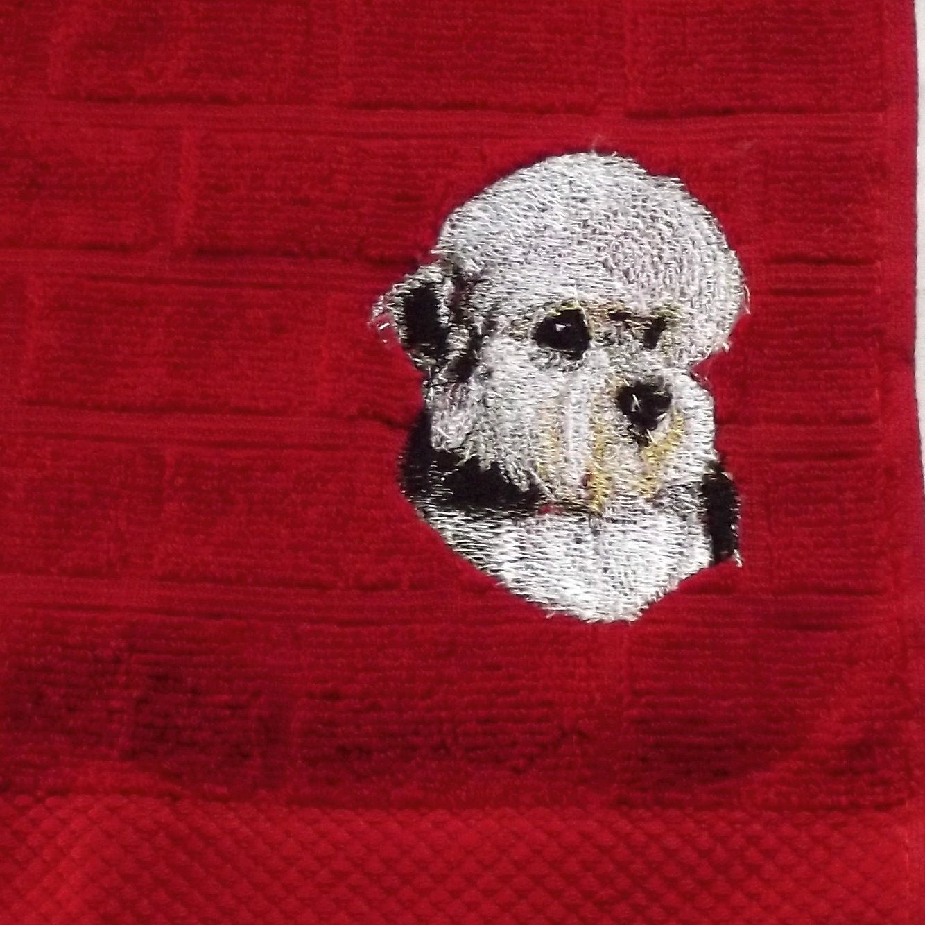 Dandie Dinmont Dog Embroidered Tea /Dish Towel, Dog Gift by  CraftEmbroideryuk on Etsy