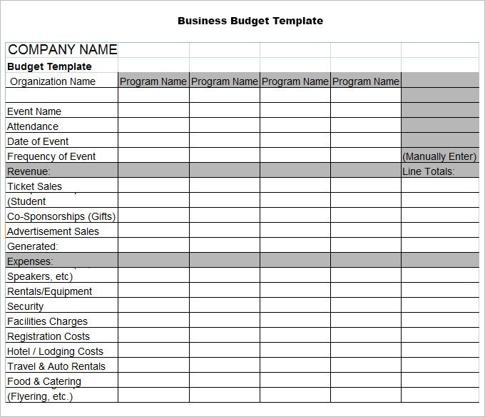 Business Budget Template Check more at