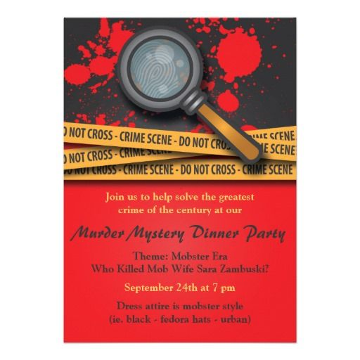 Save on Murder Mystery Dinner Party Invitation Murder Mystery Dinner - invitation wording for mystery party