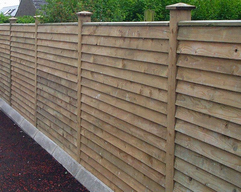 Image result for horizontal fence panels Front yard