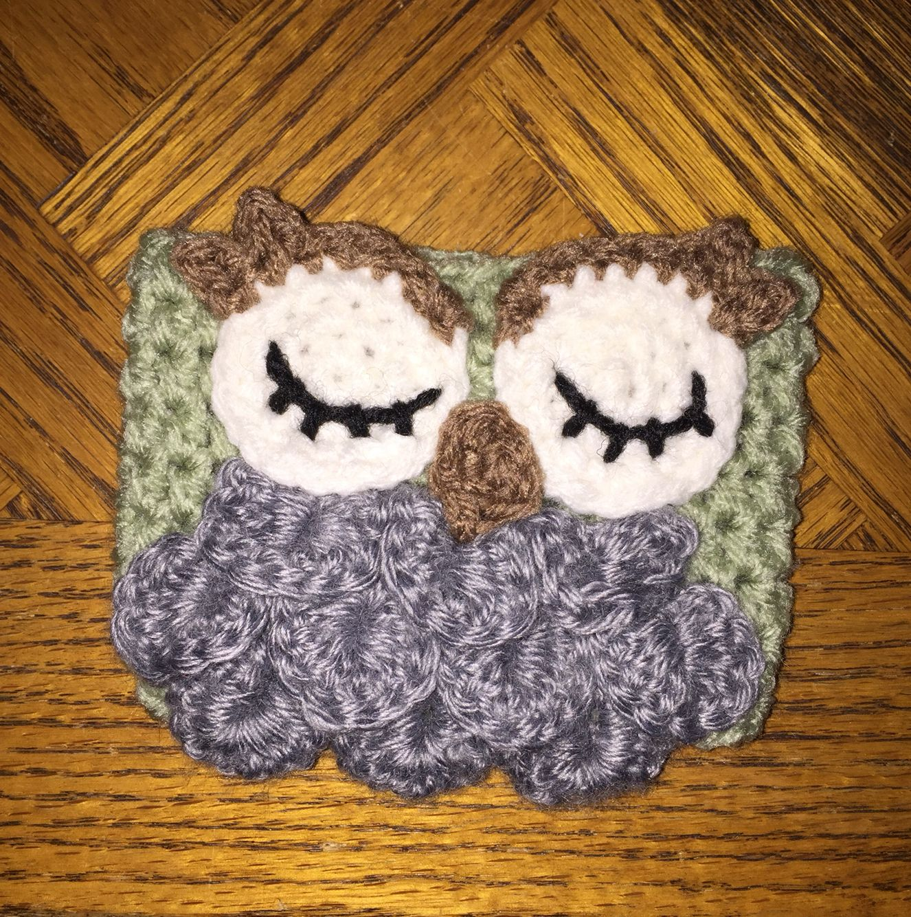 Crochet Owl Cozie. Check out LDJ Crochet on Facebook and Instagram. #ldjcrochet