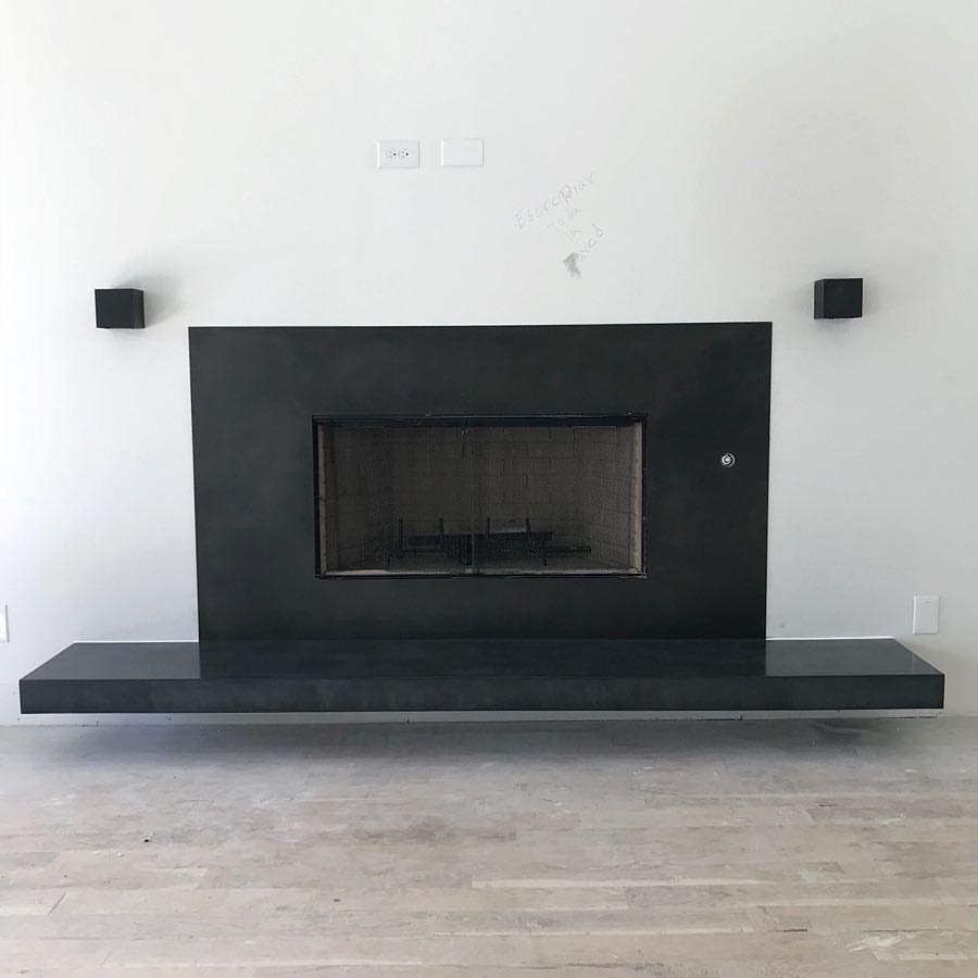 Statement piece... custom made fireplace surround & floating ...