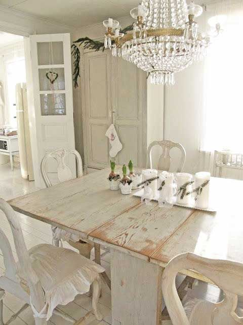 Modern Dining Room Design And Decorating In Vintage Style With