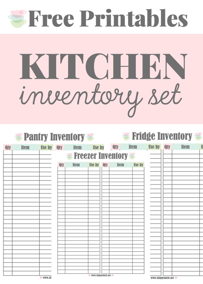 Kitchen Inventory Printables Kitchen Inventory Pantry Inventory Kitchen Hacks Organization