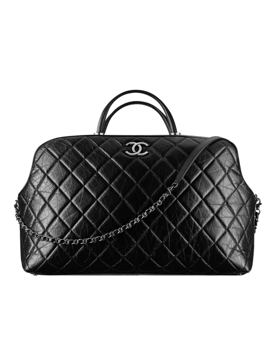 9a8be3255f85 Large calfskin bowling bag with... - CHANEL | My Purses