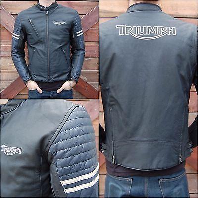 d tails sur blouson moto triumph cuir homme portman jacket taille 42 gb 52 eur. Black Bedroom Furniture Sets. Home Design Ideas