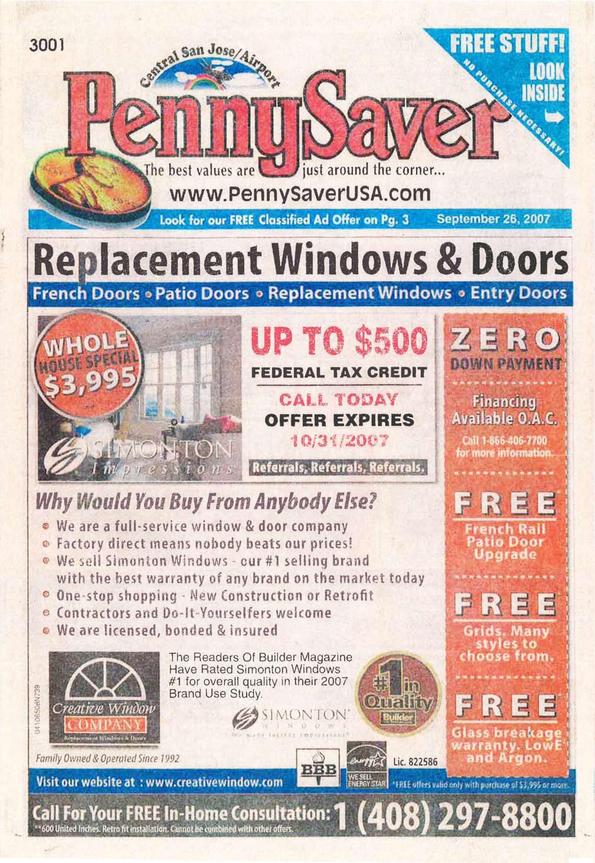 Pennysaver S Cover Circa 2007 Replacement Patio Doors French