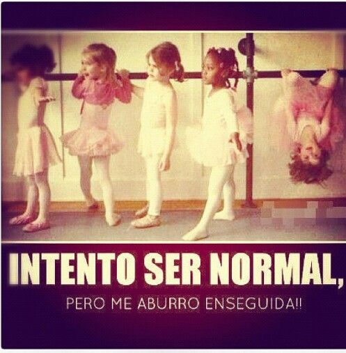 Intento ser normal