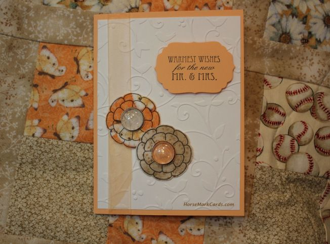 The flowers on this wedding card were made from the quilt fabric I also created for a very special couple!