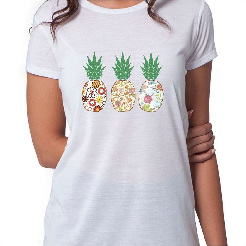 Camiseta Ilustración Tres Piñas Camisetas Camisetas Divertidas Camisetas Con Mensajes