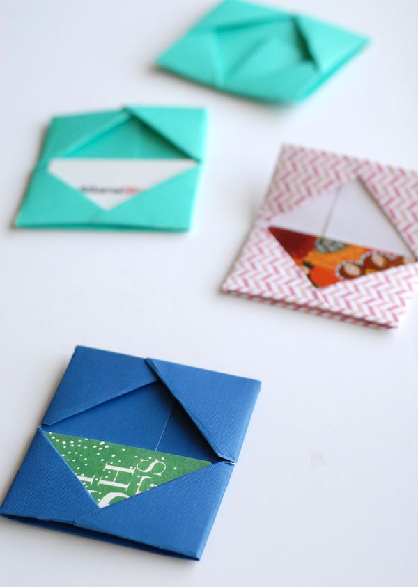 Paper Folded Gift Card Holders Origami Gifts Origami And Gift