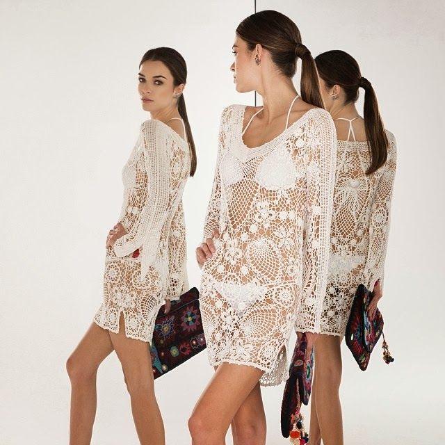 Crochê Tricô - Gráficos: Vestido usado por Letícia Spiller