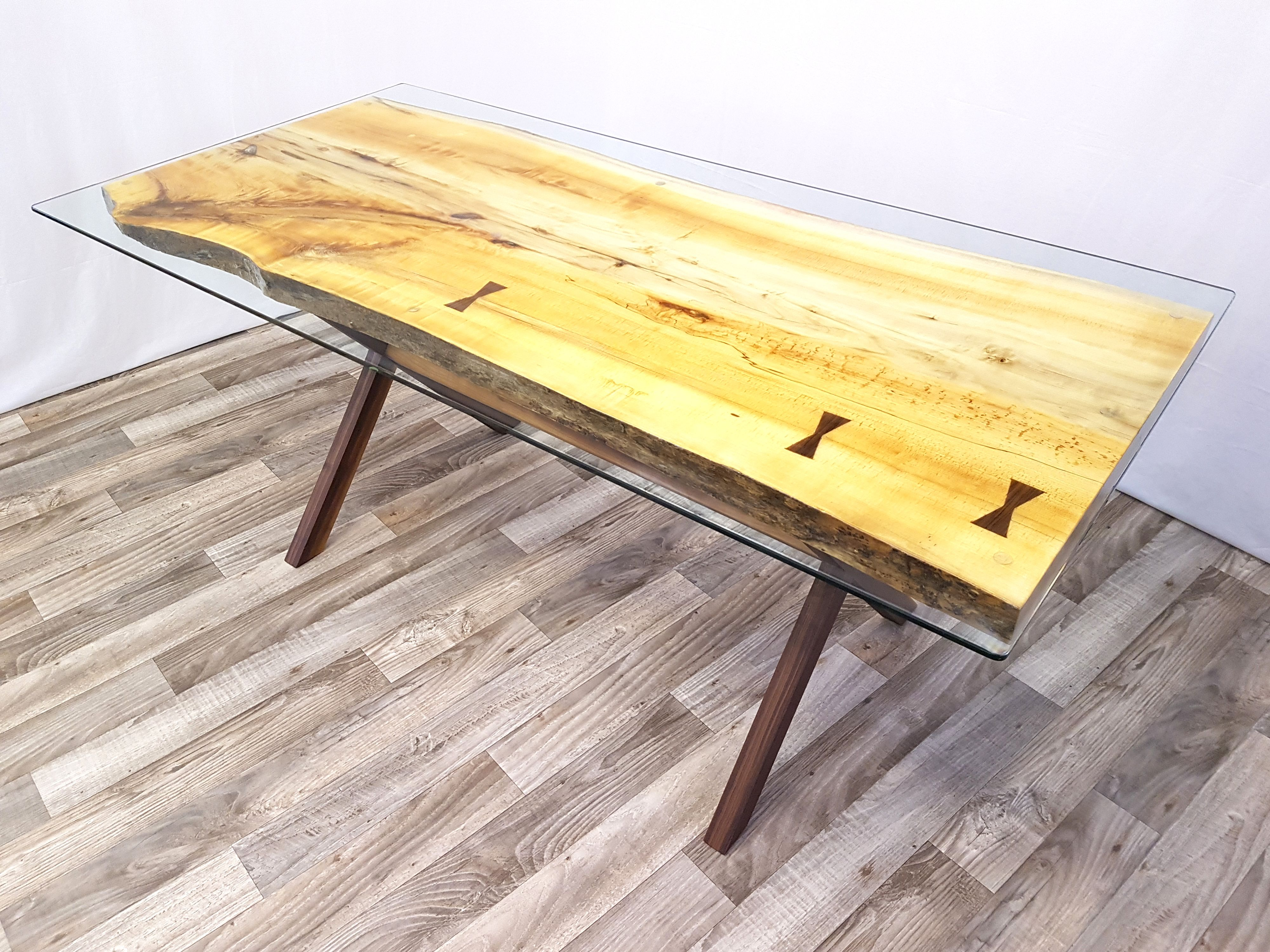 Table Live Edge Peuplier Living Table Live Edge Table Coffee Table