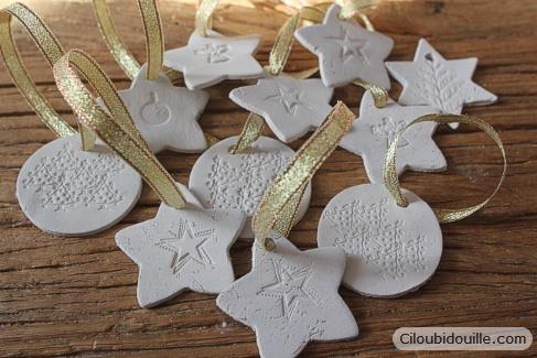 Décorations en argile pour sapins de Noël - Ciloubidouille #deconoelmaternelle
