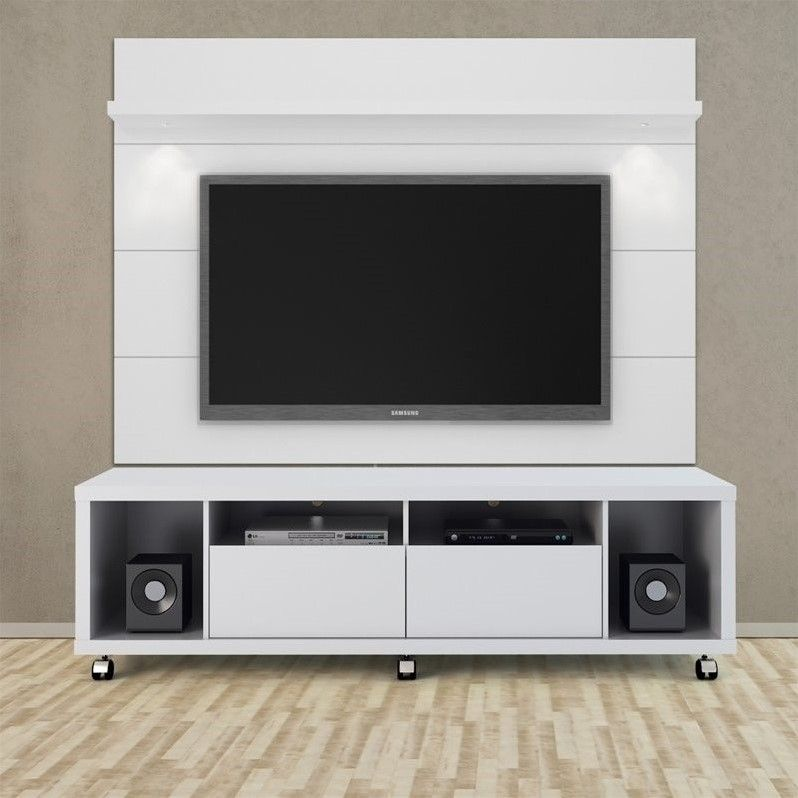"Manhattan fort Cabrini 1 8 Series 71"" TV Stand in White Gloss"