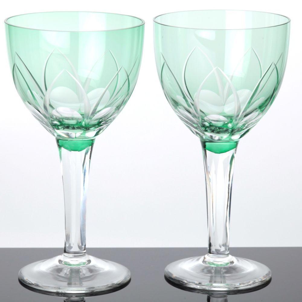 Weißweingläser details zu 2 weingläser grün weißweingläser überfang farbglas