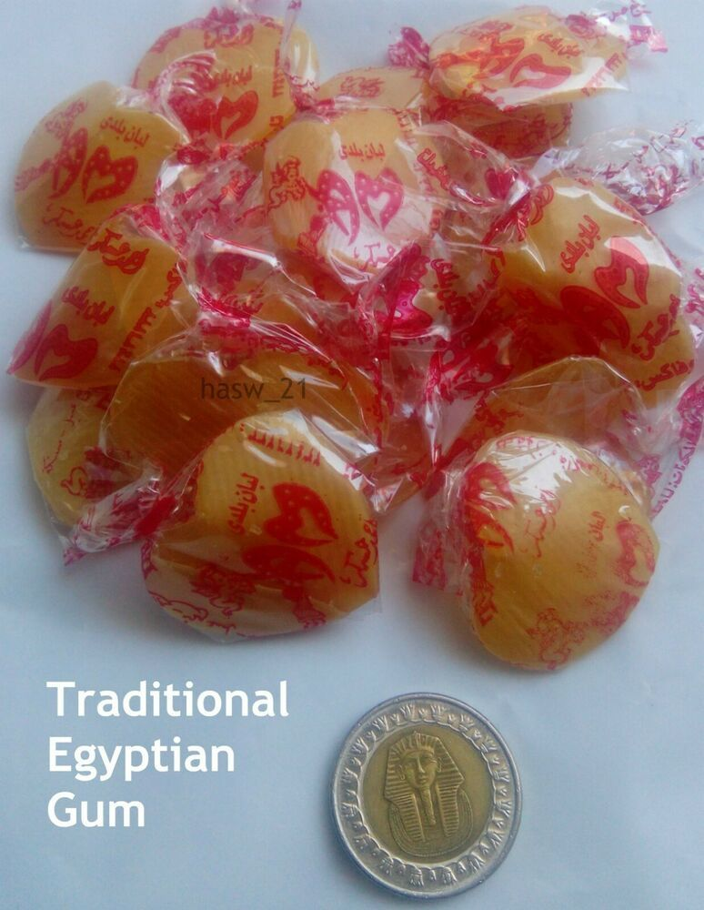 Egyptian Gum Samara Traditional 100x Long Lasting لبان سمارة مصري بلدي Unbranded Sugar Free Gum Free Candy Bulk Candy