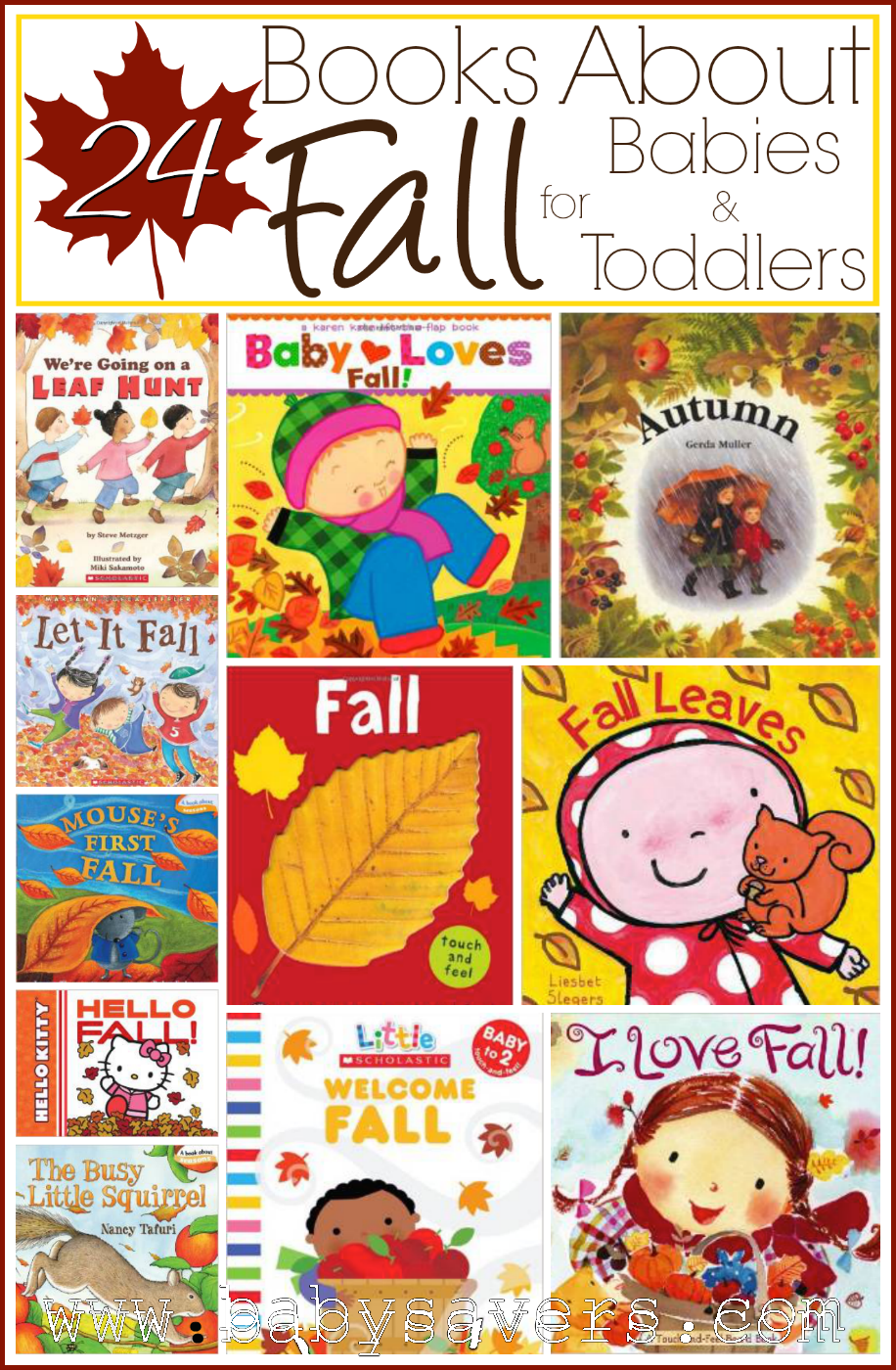 children u0027s books about fall 24 books for babies toddlers books