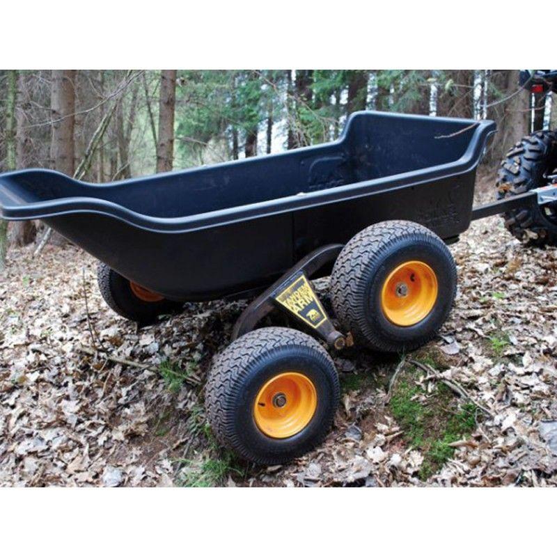 Remorque polar trailer pour quad ou 4x4 charge 680 kg for Remorque de jardin 4 roues