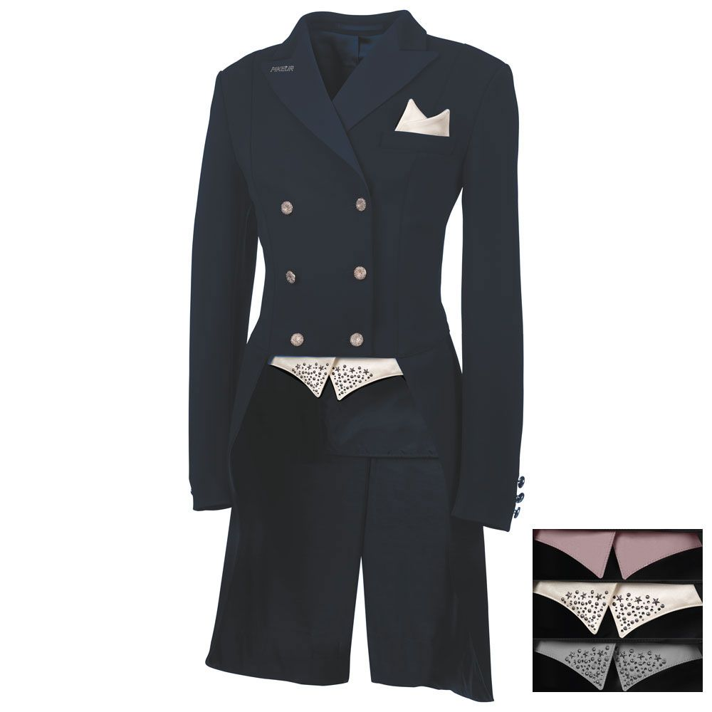 Pikeur Jersey Ladies Dressage Tails 182 with ChangeIt Colours - Navy