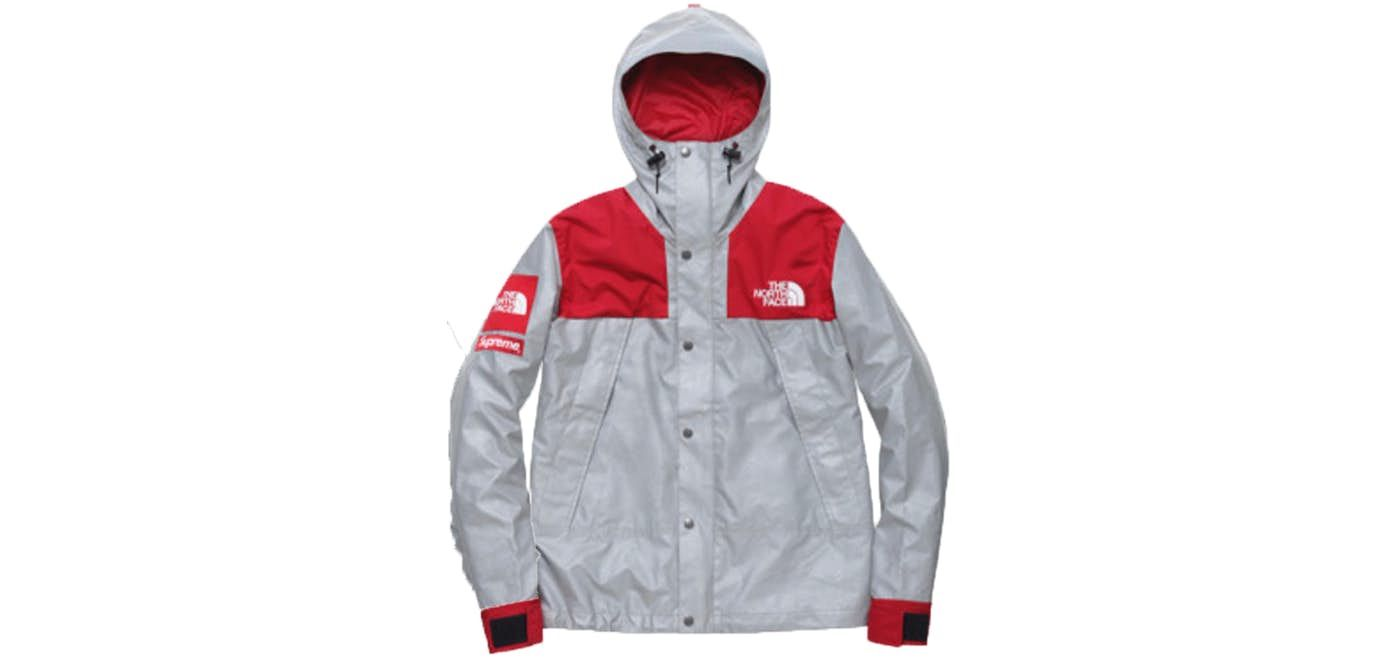97fac9dc Check out the Supreme The North Face 3M Reflective Mountain Jacket Red  available on StockX
