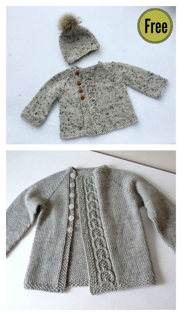 Olive You Baby Cardigan Free Knitting Pattern #
