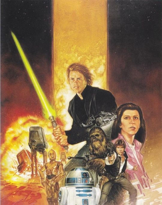 Cover art by Dave Dorman for 'Star Wars: Dark Empire' #1, published December 1991 by Dark Horse Comics.