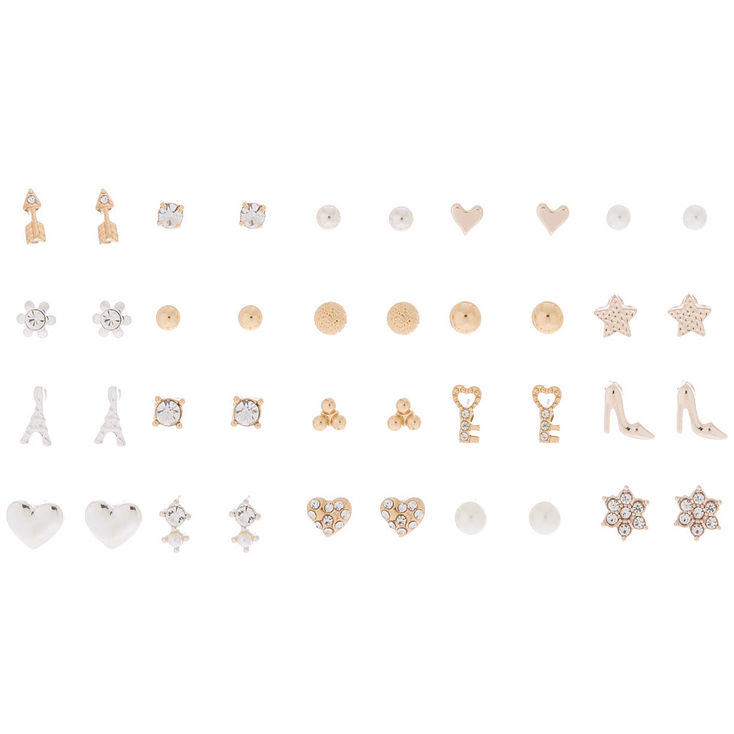 7cac34952 Claire's Mixed Metal Stud Earrings - 20 Pack in 2019 | Products ...