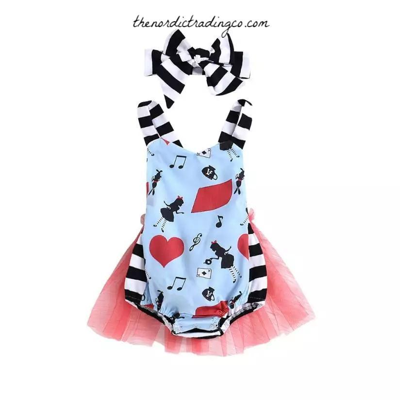 f6b0ae469864 Alice in Wonderland Tutu Romper Baby Girl s Outfits First Birthday Party  Gifts Girls Infant Toddler Baby Girl Half Unbirthday 6 12 18 24 mo Skirts  Dresses