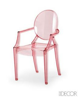 Delightful Pink Lucite Ghost Chair
