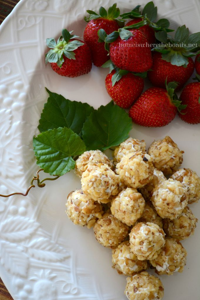 Pecan & Goat Cheese Covered Grapes
