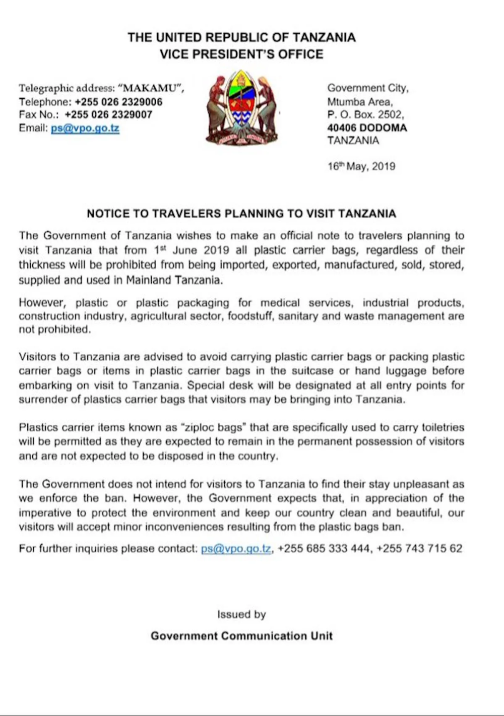 Following The Introduction Of A Wholesale Ban On Plastic Bags In Tanzania We Ve Had A Slew Of Emails From Our Climbers And In 2020 Tanzania Visa Online Business Visa