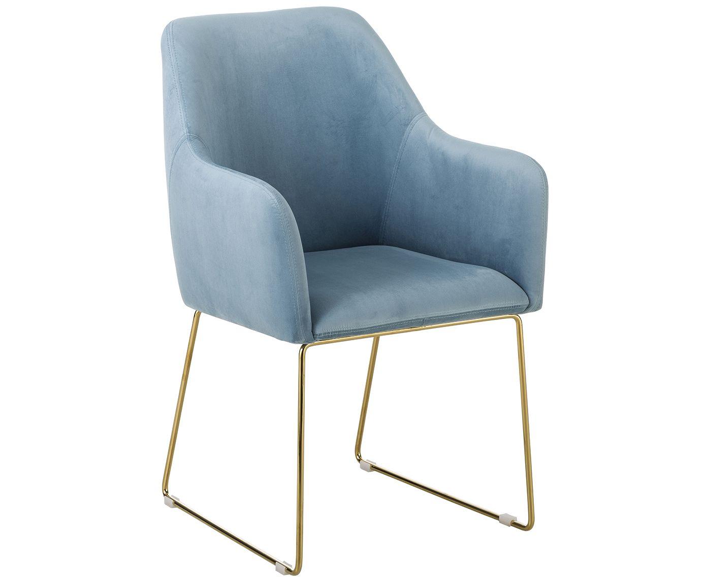 Krzesło tapicerowane z aksamitu Isla   WestwingNow   Sedia ...