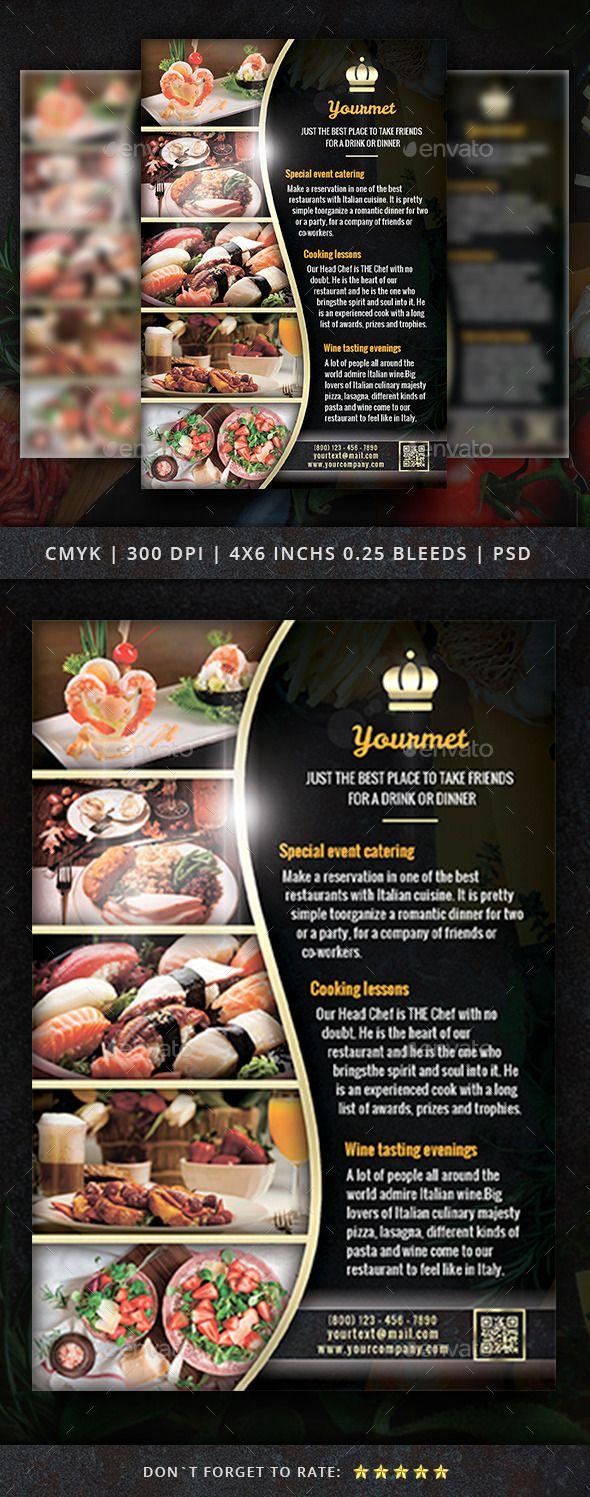 Restaurant Flyer Template   Menus restaurantes y Restaurante