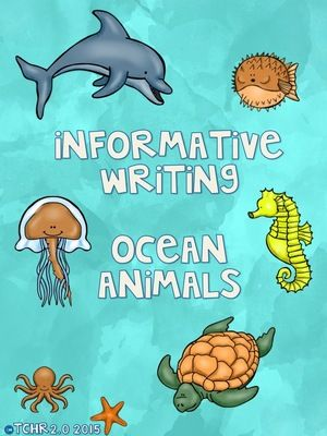 Informative Writing Research Ocean Animals Shark Whales Octopus From Tchr2 0 On Teachersnotebook Com 25 Page Ocean Animals Informational Writing Animal Report