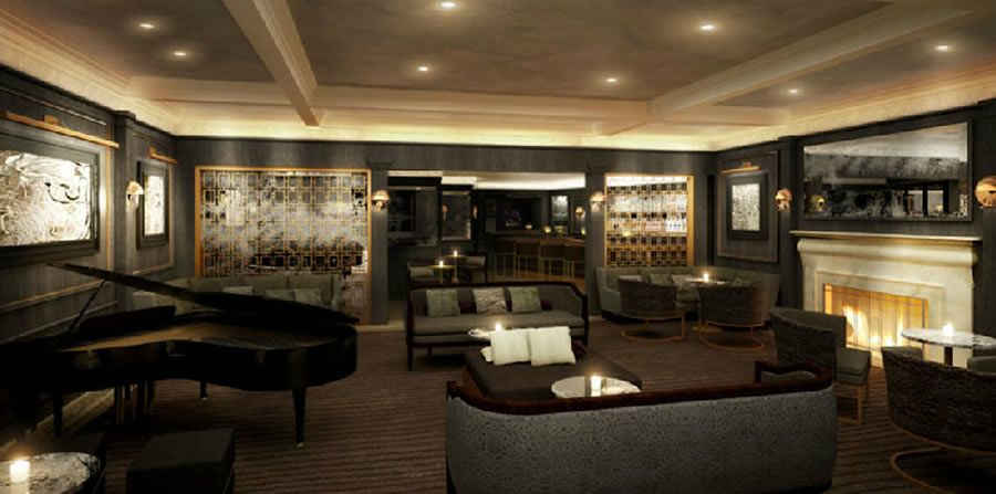 Fresh and Luxury Bar Lounge Interior Design of Hotel Bel