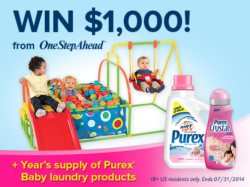 Win $1,000 From One Step Ahead + Year's Supply of Purex Baby Laundry Products - Chic From Hair-2-Toe