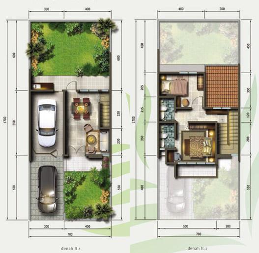 Denah Rumah 2 Lantai Ukuran 8x18 - Sekitar Rumah