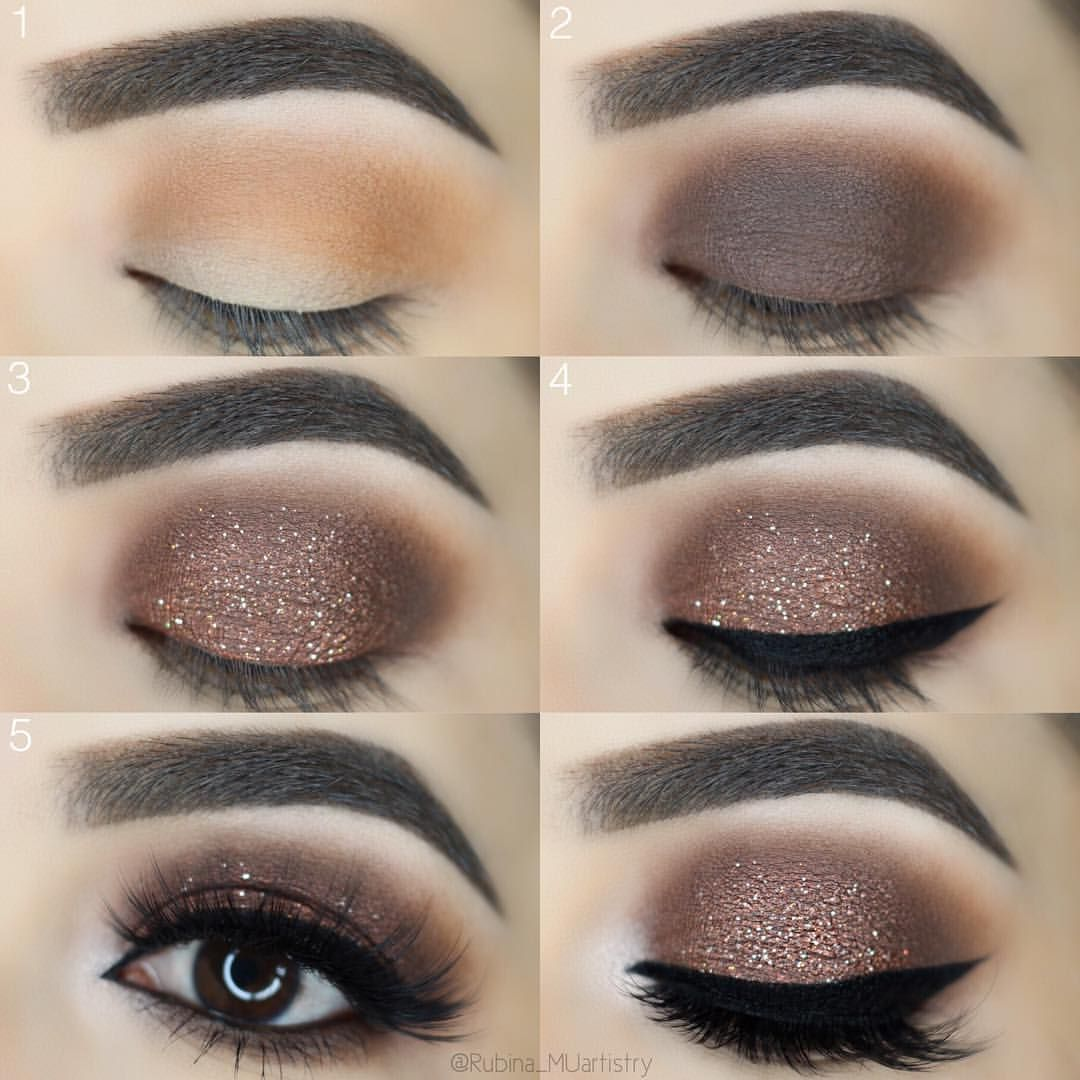 Dark Brown Glitter Smokey Eye Used Iconic London Sculpt Boost
